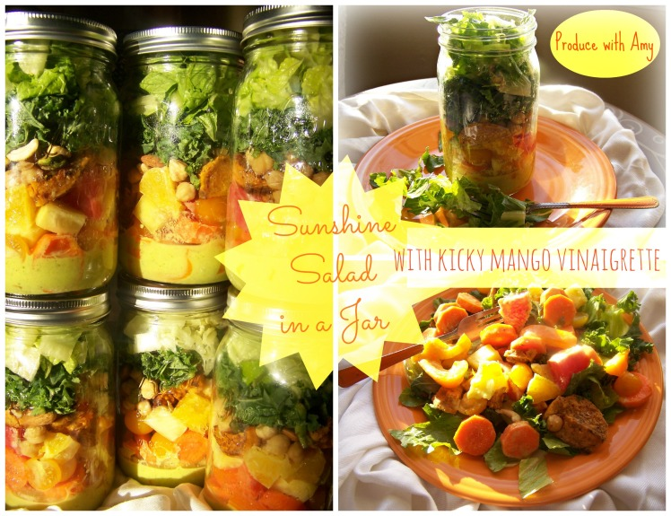 Sunshine Salad with Kicky Mango Vinaigrette by Produce with Amy
