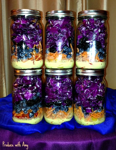 Blue & Purple Jarred Salads with Tangerine Vinaigrette