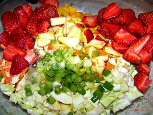 Citrus Berry Slaw Ingredients