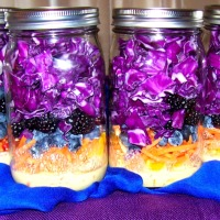 Blue & Purple Passion Jarred Salads with Tangerine Vinaigrette