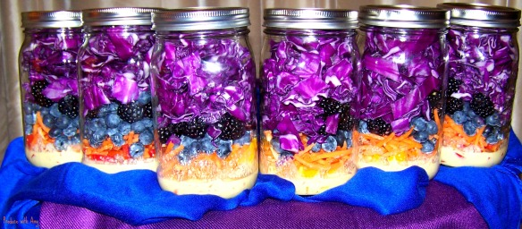 Blue & Purple Passion Jarred Salads