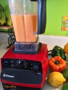 Fresh blended Carrot, Orange, and Ginger Juice