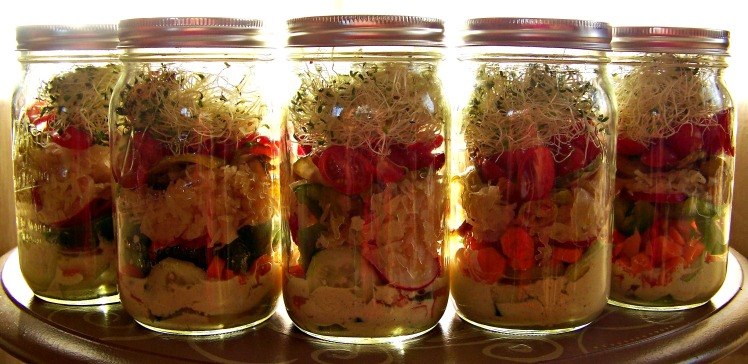 Tangy Jarred Salads by Produce with Amy