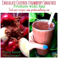 Chocolate Covered Strawberry Smoothie ~ Plant-Based & Healthy