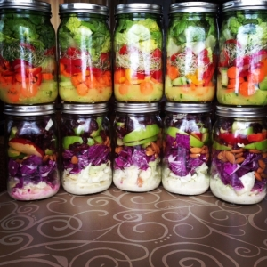 Mason Jar Salads by Produce with Amy