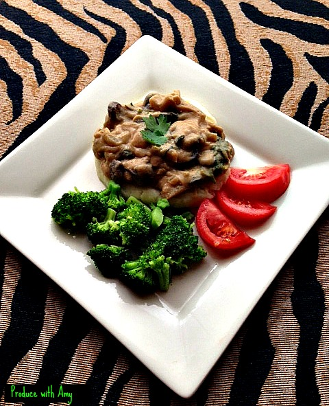 Mushroom Stroganoff by Produce with Amy