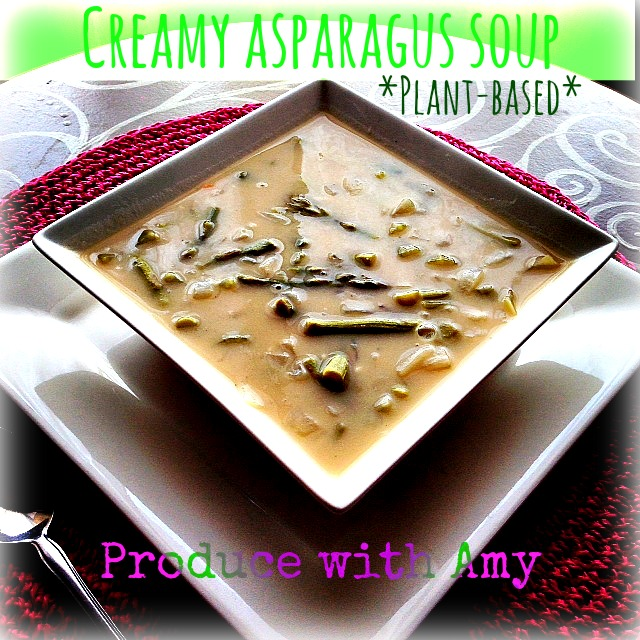 Creamy Asparagus Soup by Produce with Amy