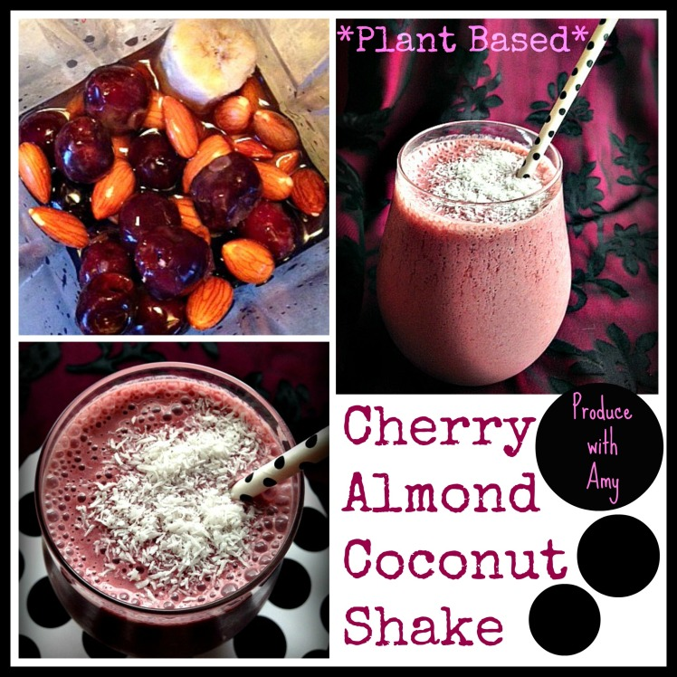 Guilt-Free Cherry Almond Coconut Shake by Produce with Amy