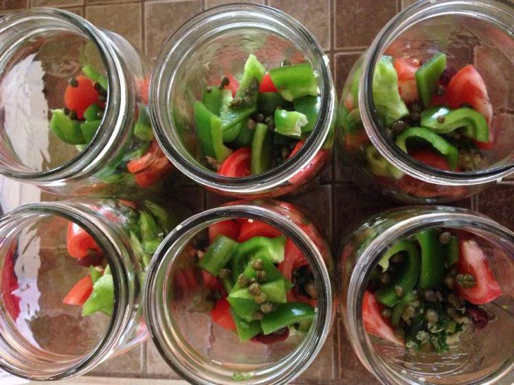 Mason Jar Salad Prep