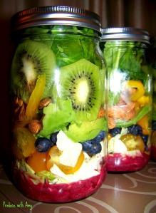 Paradise Salad with Blueberry Lemon Dressing