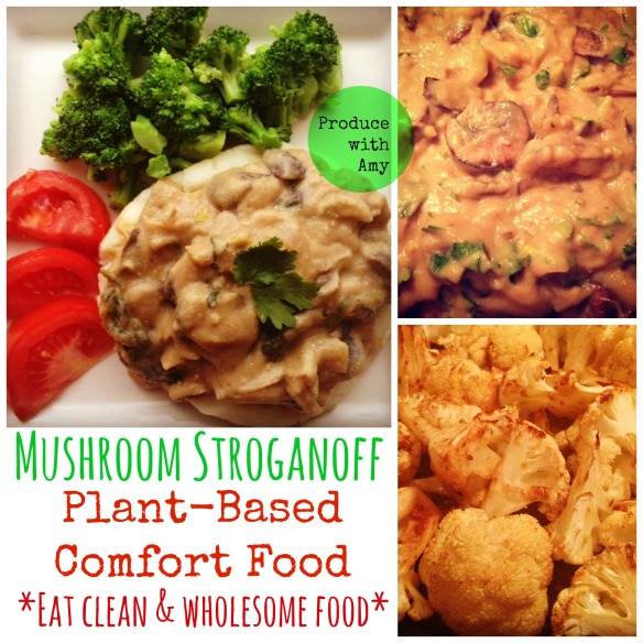Plant-Based Mushroom Stroganoff by Produce with Amy