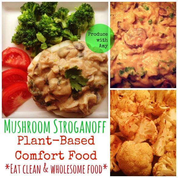 Plant-Based Mushroom Stroganoff by Produce with Amy