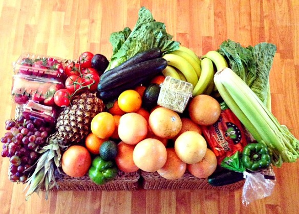 My weekend produce purchase which helps guarantee a healthy week.