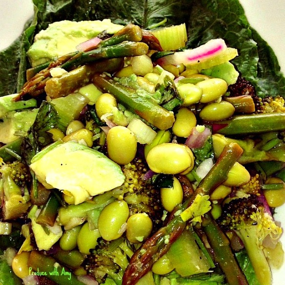 Verdant Salad with Spring Green Vegetables and Dressing Two Ways by Produce with Amy
