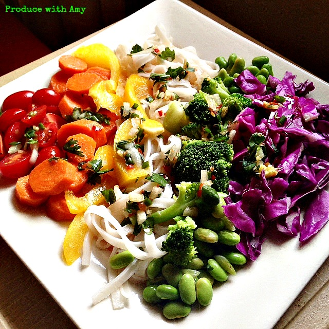 Plated Spectrum Salad by Produce with Amy