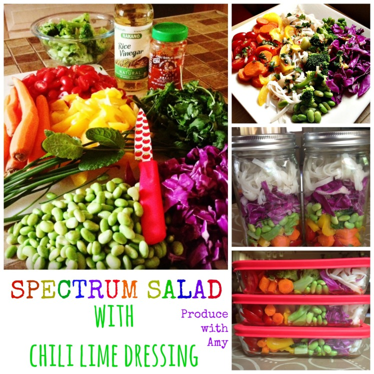 Spectrum Salad with Chili Lime Dressing Three Ways by Produce with Amy