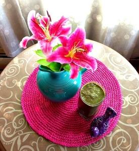 Plum & Blue Blossom Green Smoothie