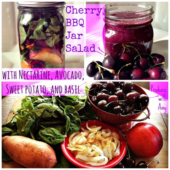 BBQ Cherry Jar Salad by Produce with Amy