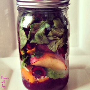 Cherry BBQ Jar Salad by Produce with Amy