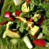 Chilled Green Soup -  A Summer Staple