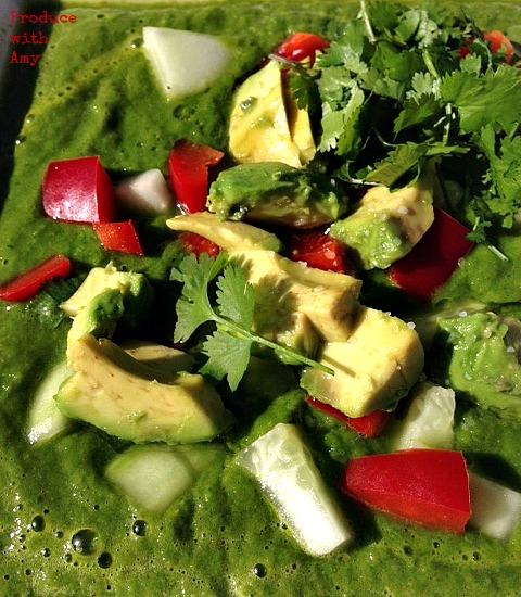 Chilled Green Soup by Produce with Amy