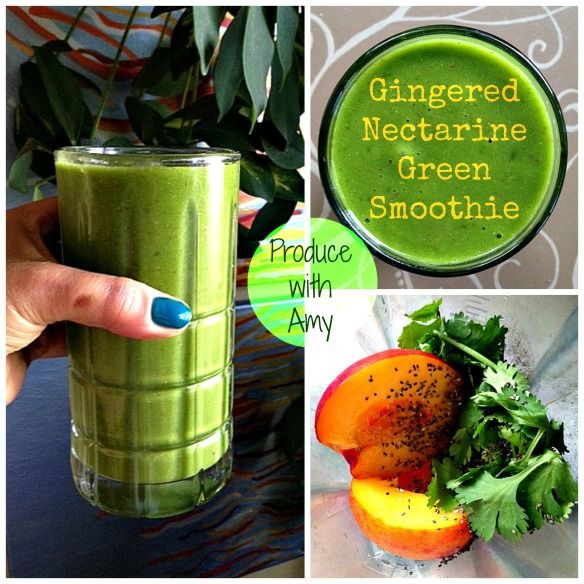 Gingered Nectarine Green Smoothie