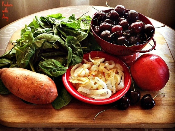 Ingredients for Cherry BBQ Salad