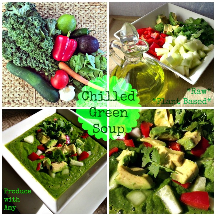 Raw - Chilled Green Soup by Produce with Amy