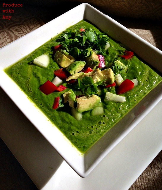 Raw Green Soup by Produce with Amy