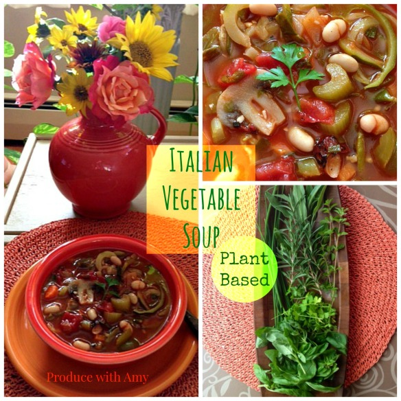 Italian Vegetable Soup by Produce with Amy