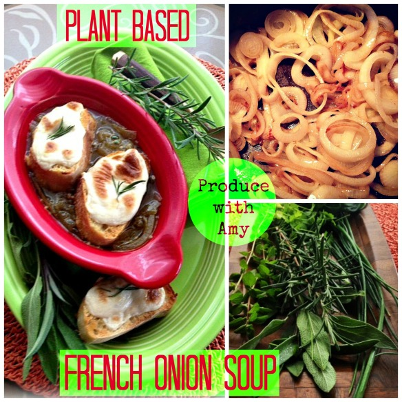 Plant Based French Onion Soup by Produce with Amy
