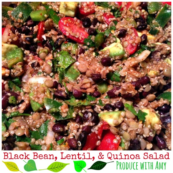 Black Bean, Lentil, and Quinoa Salad by Produce with Amy