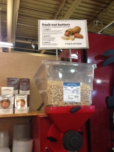 The Marquette Food Co-op features a machine to grind your own fresh almond and peanut butter.