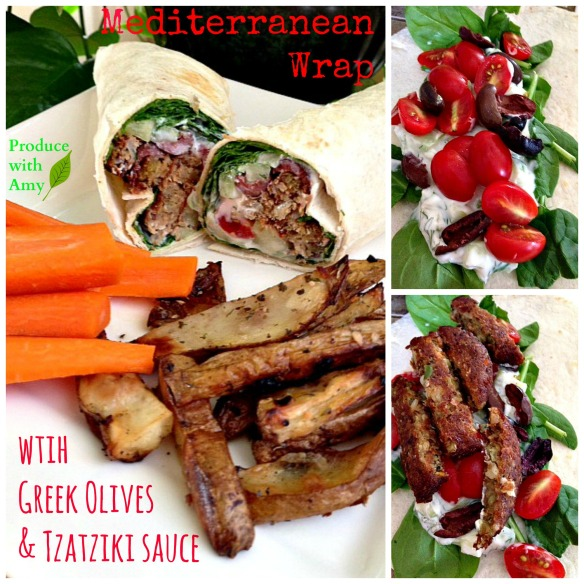 Mediterranean Wrap by Produce with Amy