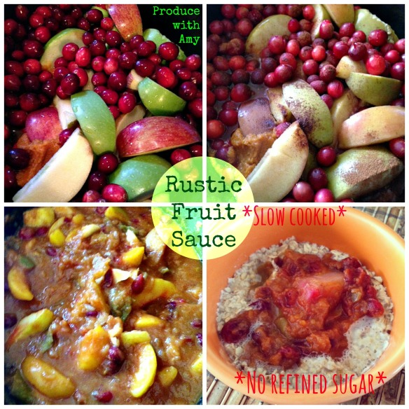 Rustic Slow Cooked Fruit Sauce by Produce with Amy