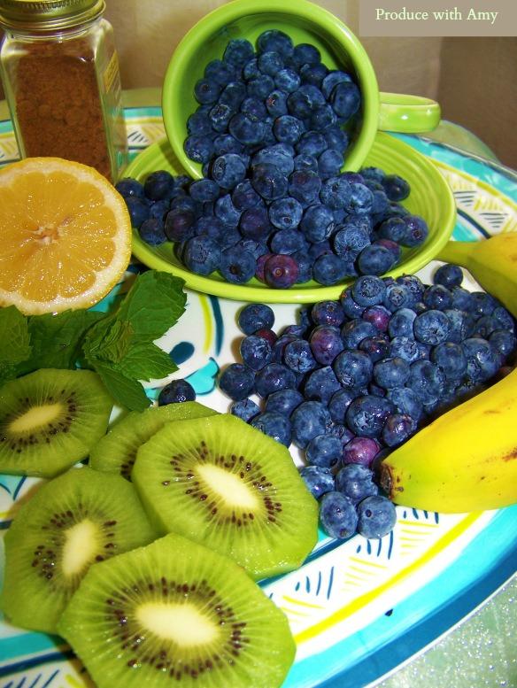 Kiwi and Blueberries