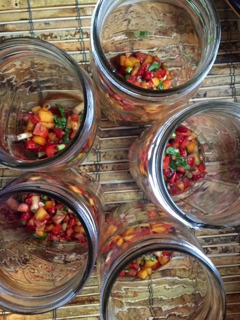 Salsa for Dressing in Mason Jar Salads