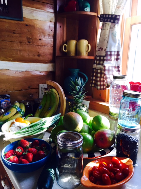 This is what our counter looked like last spring, I need to get back to this.