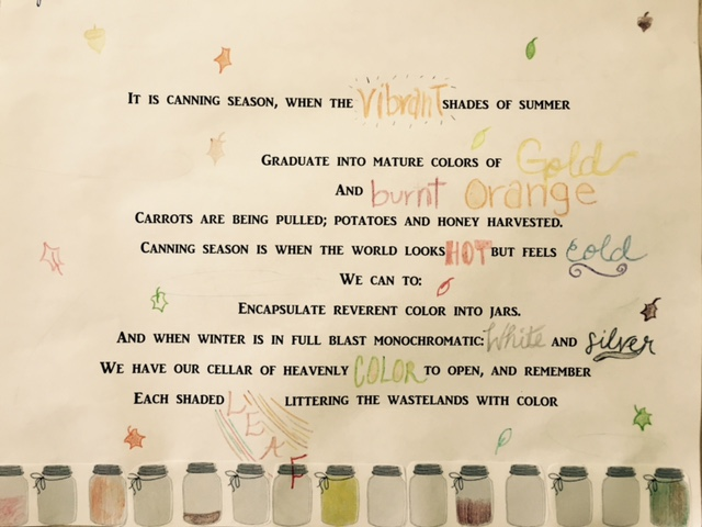 Abbi's Canning Poem