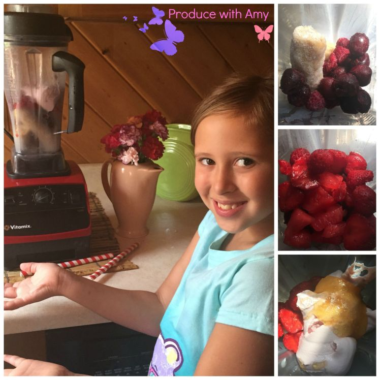 Avalon and her smoothie creation