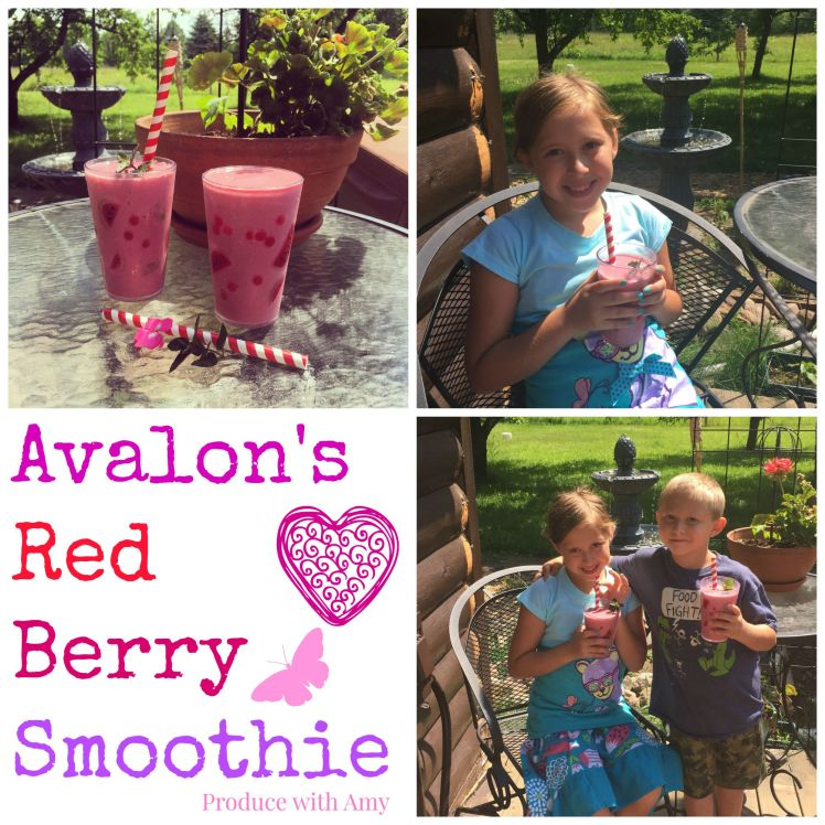 Avalon's Red Berry Smoothie by Produce with Amy