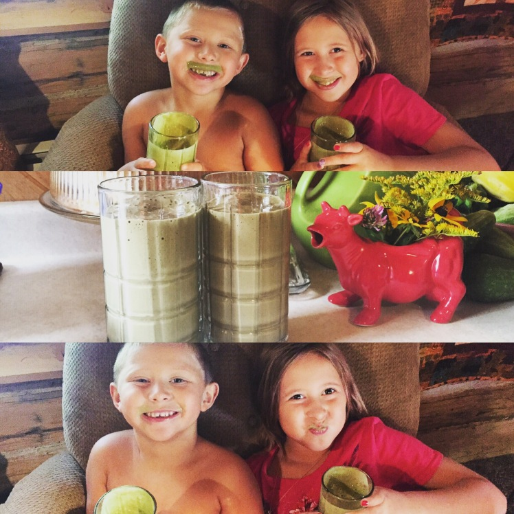 Lukas and Avalon finally surrendered to the green smoothie and LOVE them.