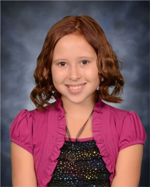 Avalon's 4th grade school picture.
