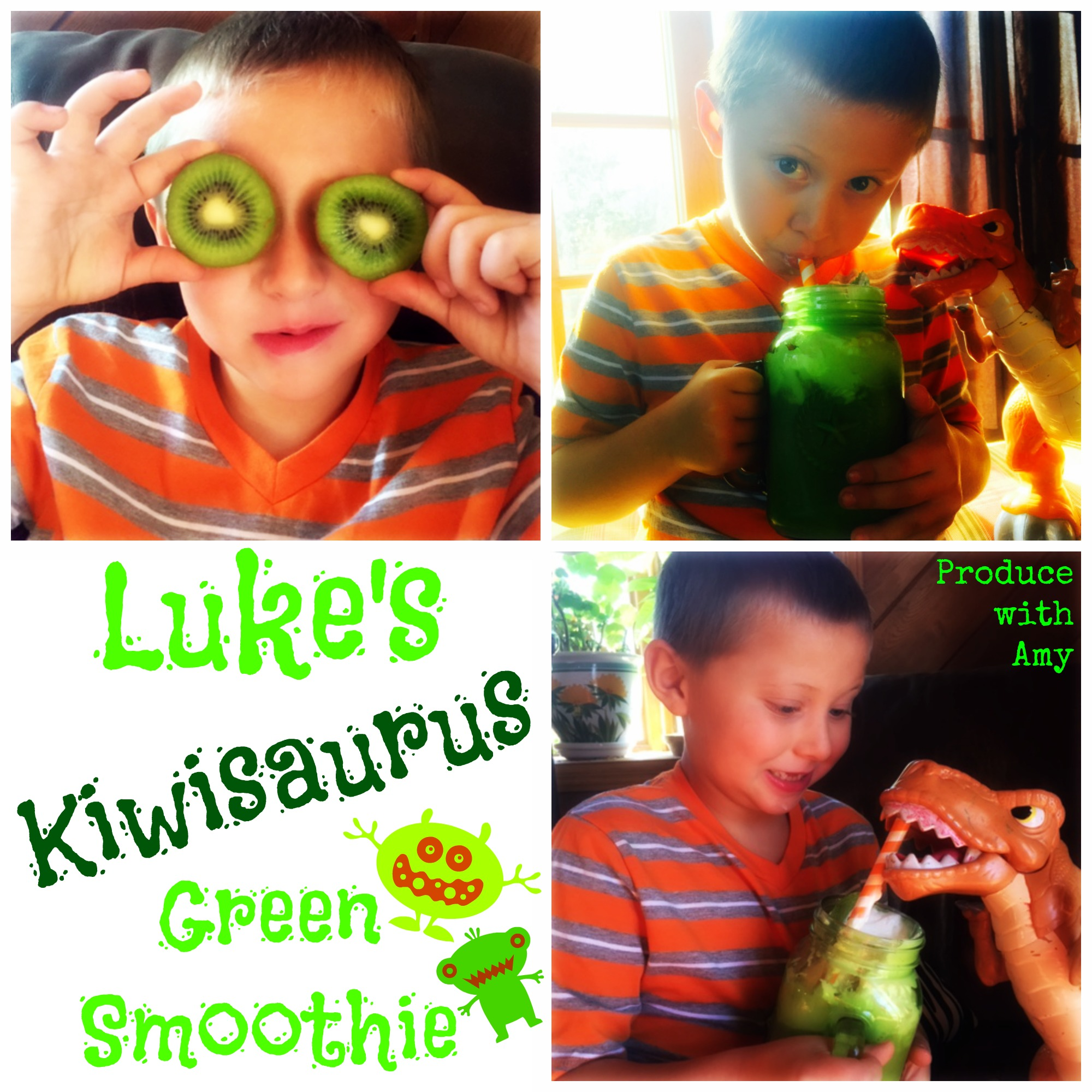 Luke's Kiwisaurus Green Smoothie by Produce with Amy
