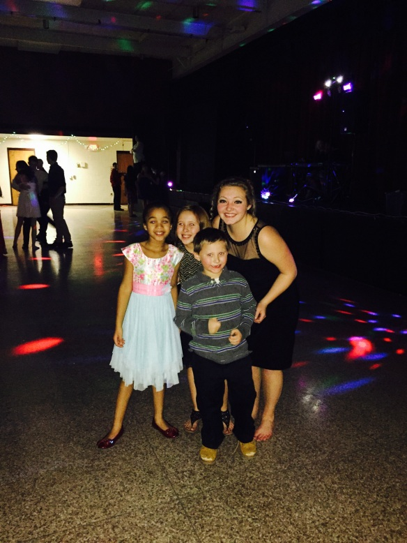 The kids had so much fun dancing the night away. Jordan, one of my students, made their evening extra special. She is such a sweetheart! Love her!