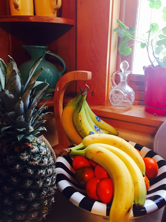 I love having a bottomless fruit bowl at home. Our kids love bananas and cuties.