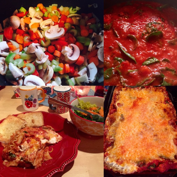 """Vegetarian lasagna is a great way to """"trick"""" my family into eating vegetables. They love lasagna!"""