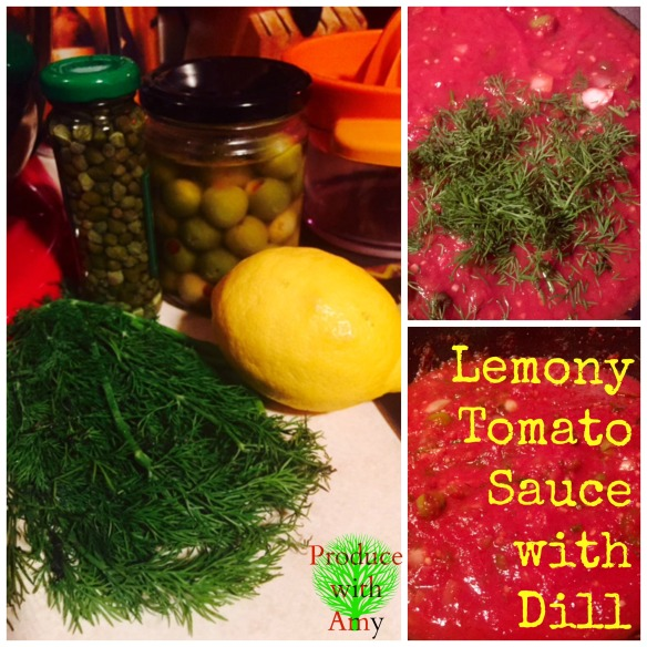 Lemony Tomato Sauce with Dill by Produce with Amy