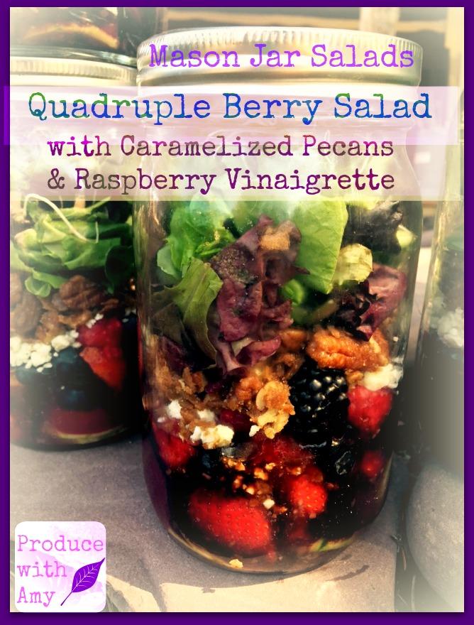 Quadruple Berry Mason Jar Salad
