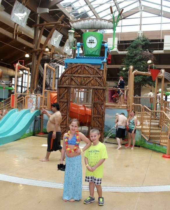 Avalon and Lukas had a blast at the water park and they can't wait to go back.